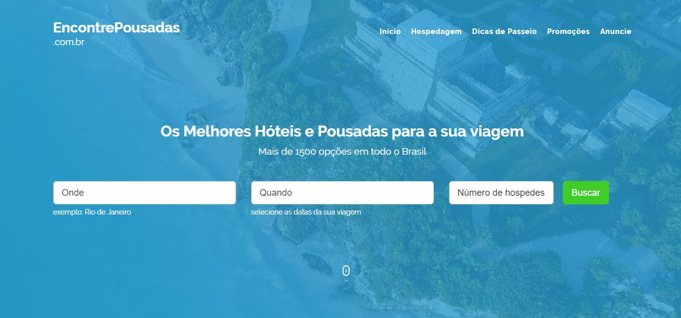 EncontrePousadas.com.br: HTML5 + PHP