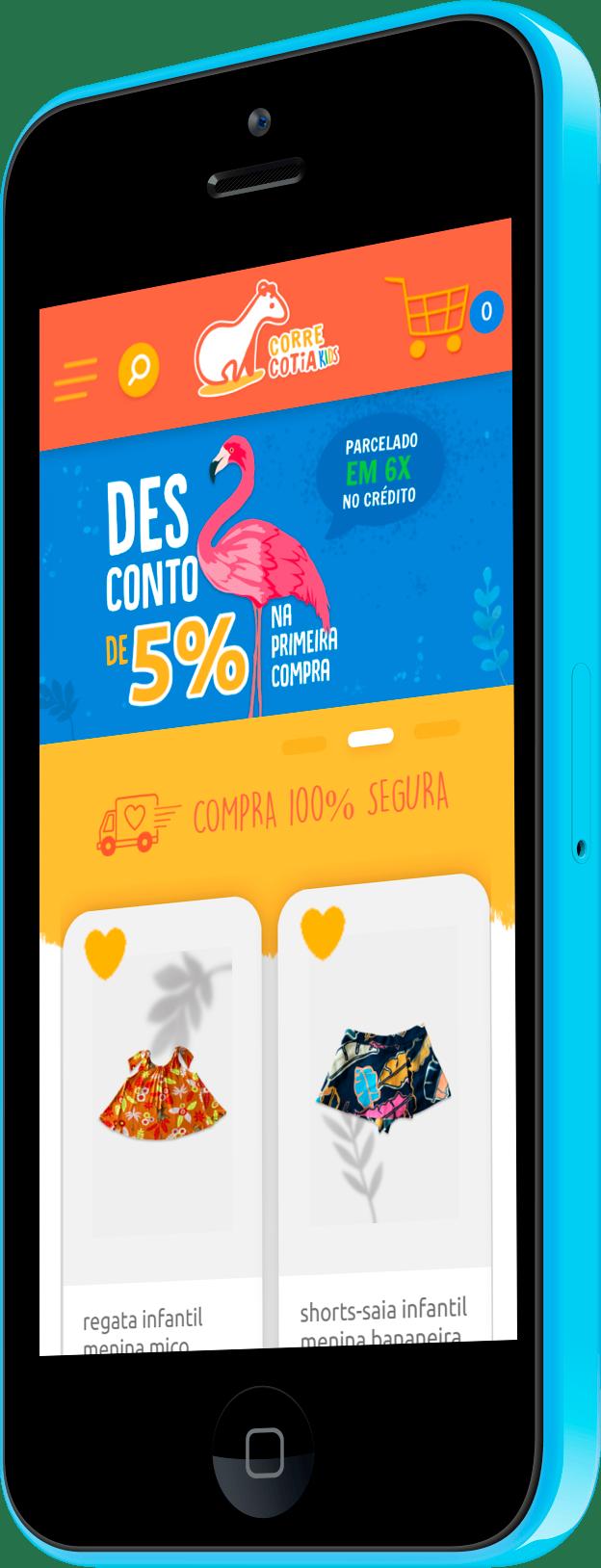 Imagem do portfólio Corre Cotia Kids: Loja Virtual WooCommerce