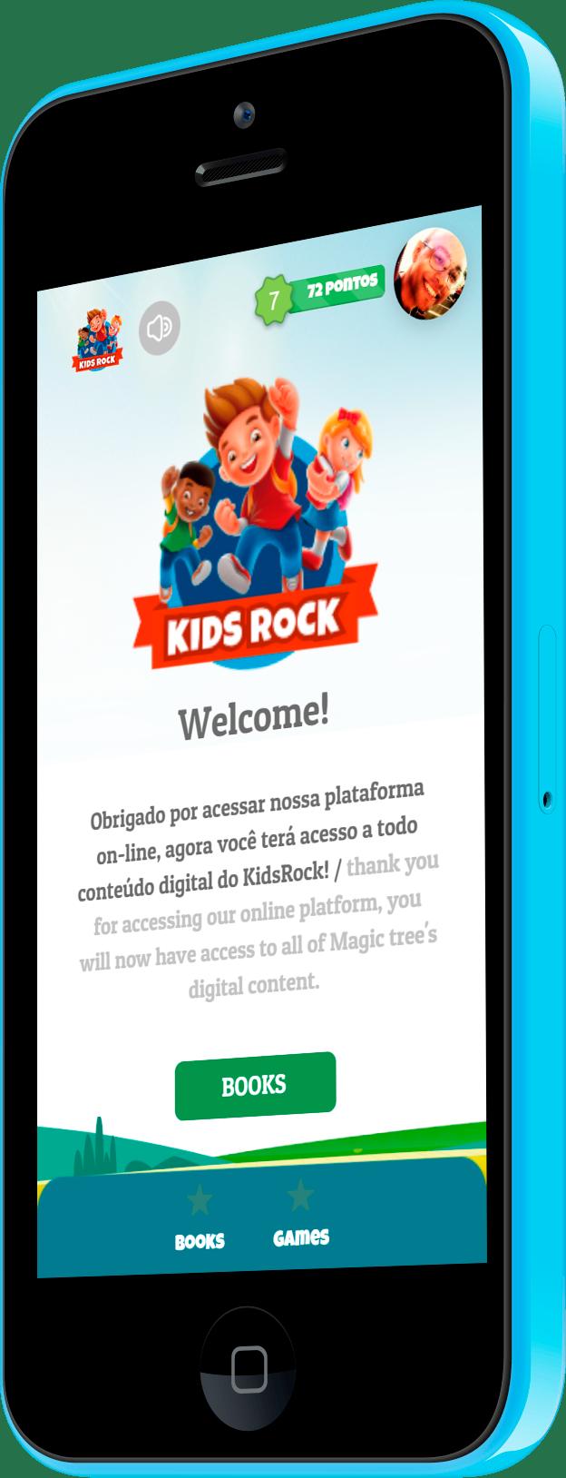 Imagem do portfólio Plataforma KidsRock: interação para o ensino de idiomas