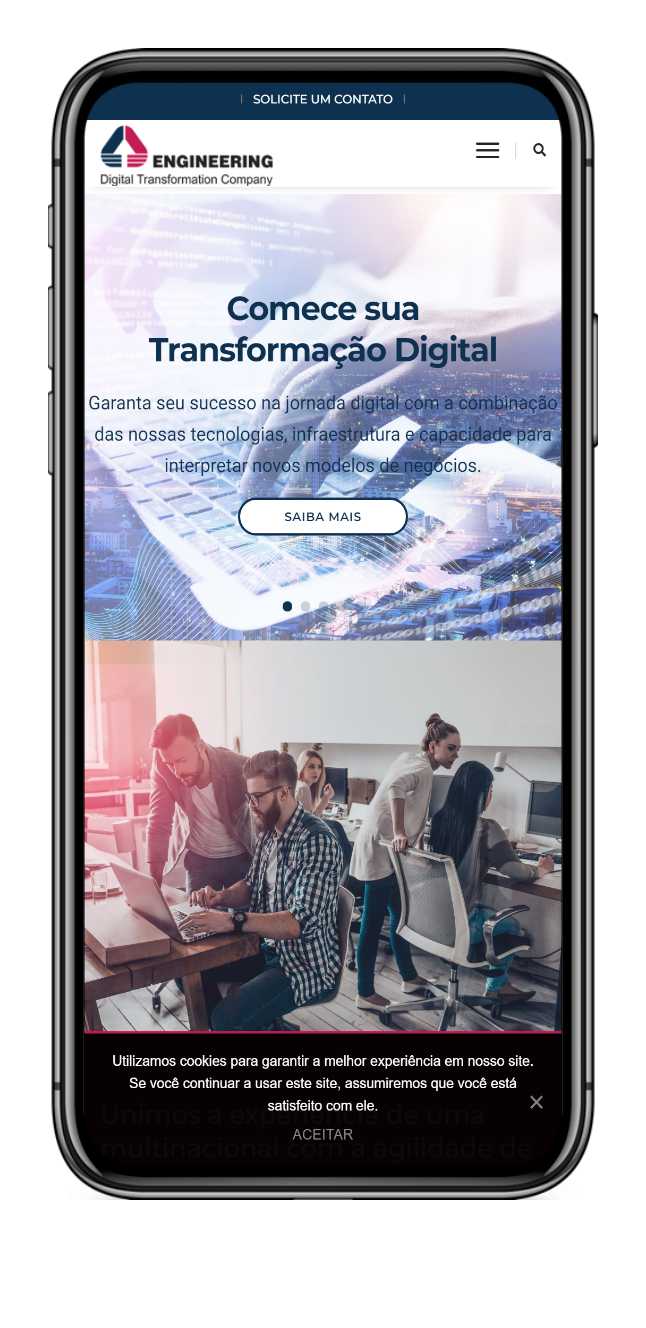 Imagem do portfólio Engineering: Digital Transformation Company – WordPress Institucional
