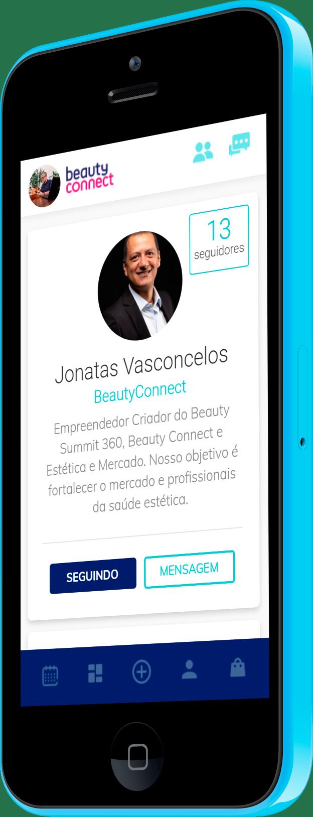 Imagem do portfólio Rede Social mercado de estética BeautyConnect360